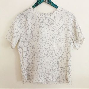 Rebecca Taylor Silk Floral Short Sleeve Blouse 4